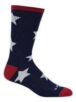 Cameo Men's Novelty USA Stars & Stripes Comfort Crew Socks, One Pair 7252-NAVY