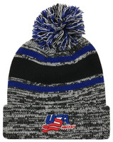 Zephyr Hats USA Hockey Granite Knit Beanie Cap Hats w/ Pom Ski Winter Hat