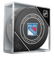 Inglasco NHL New York Rangers Regular Season 960T Official Game Puck Cube Black
