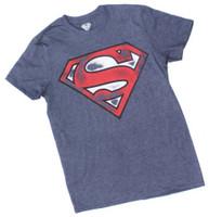 Superman Mens Shield Logo T-Shirt Tee Shirt Super Hero DC Comics DCSUPERMAN-NAVY