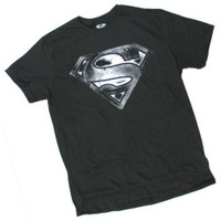 Superman Men Shield Logo T-Shirt Tee Shirt Super Hero DC Comics DCSUPERMAN-BLACK