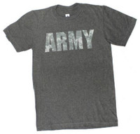 USA ARMY Logo T-Shirt Camouflage Tee Military Branch Soldier REX-USAARMYCAMO