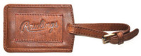 Rawlings Leather Luggage Tag Tan Calfskin Leather Embossed Logo V616-202