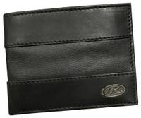 Rawlings Quagga Bases Loaded Bi-fold Wallet Baseball Leather Black RW80004-001