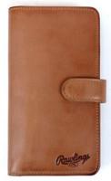 Rawlings Universal Magnetic Phone Case Wallet Baseball w/ Tab Tan RO90000-204