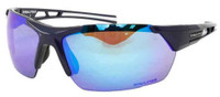 Rawlings Mens Athletic Sunglasses Half-Rim Black/Blue Mirrored Lens 10237061.QTS