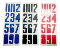 Bauer Hockey Helmet Number Stickers. Red, Three Sheets 1035636 (Red)