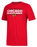 Adidas Men's Chicago Blackhawks National Hockey League Tee Shirt NHL Dassler
