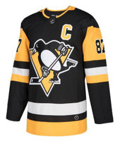 Adidas Mens Pittsburgh Penquins Sidney Crosby Hockey Jersey NHL #87 Captain C