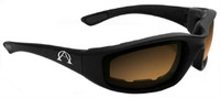 Alpha Omega 1 Foam Riding Sunglass Photochromic Bike (Black-Amber-Smoke Photo)