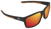ff82efb112b Alpha Omega 4 Riding Fashion Sunglasses Motorcycle Bike (Black-Orange Mirror )
