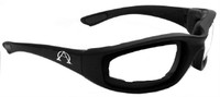 Alpha Omega 1 Foam Riding Sunglass Photochromic Bike (Black-Clear-Smoke Photo)