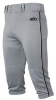 Rawlings Mens Adult Launch Baseball Pants Piped Knicker Short Style LNCHKPP