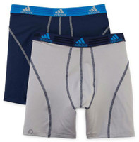 Adidas Mens Sport Performance Boxer Briefs Climalite (2 Pack) Navy/Gray 5138390