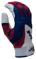 Miken Pro Mens Adult Baseball Softball Batting Glove Patriotic 3 Colors MBGL18