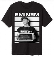 Eminem Line Up T-Shirt Arrest Mugshot Slim Shady Band Rapper Adult Tee 11601182