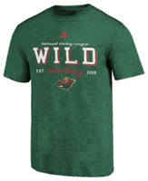 Adidas Men's Minnesota Wild NHL Hockey League T-Shirt Sender Twin Cities MWIFMM2