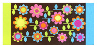 Floral Garden Printed Soft Beach Towel - Brown, 30 x 60 inches 113852