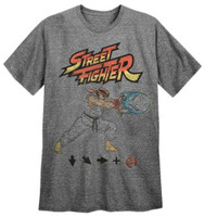 Capcom Men's Street Fighter Tee T-Shirt Video Game Series REX-STREETFIGHTER