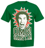 REX OMG Santa Elf Movie Graphic Tee T-Shirt Adult Christmas Holiday REX-OMGSANTA