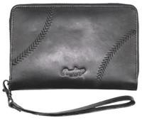 Rawlings Women's Phone Zip Wallet Baseball Leather 7.25 x 4.25 Black RW80000-001