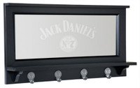 "Jack Daniels Old No. 7 Pub Mirror with 4 Hooks Whiskey 28"" x 15"" Bar Mancave"