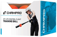 "Champro Lite Control Flight Ball 12"" Baseball/Softball 12 Balls Orange CSB96"