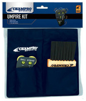 Champro Umpire Kit Ball Bag, Plate Wood Brush &  4 Dial Indicator Baseball Navy