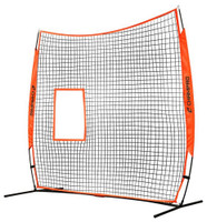 Champro MVP Portable Screen 7' x 7' Pitchers Protective Net Softball Orange NB52