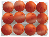 "Champro Brute Poly Ball 9"" Baseball/Softball Box of 12 Hole Type Orange CBB50"