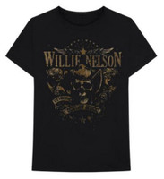 Willie Nelson Genuine Outlaw T-Shirt Tee Country Music Band Album Tour ZRWN1009