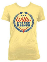 Willie Nelson Braids Laurel Womens T-Shirt Tee Country Music Band Album ZRWN1029