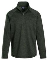 Landway Men's Alpha Heathered 1/4-Zip Pullover Shirt Athletic Color Option CL-39