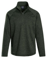 Landway Men's Alpha Heathered 1/4-Zip Pullover Shirt Athletic Color Option CL-39