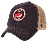 Zephyr USA Hockey Tatter Embroidered Logo Baseball Cap Hat Mesh Back