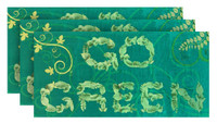 Hilasal GO GREEN Printed Soft Beach Towel - Green, 30 x 60 inches 3 PACK