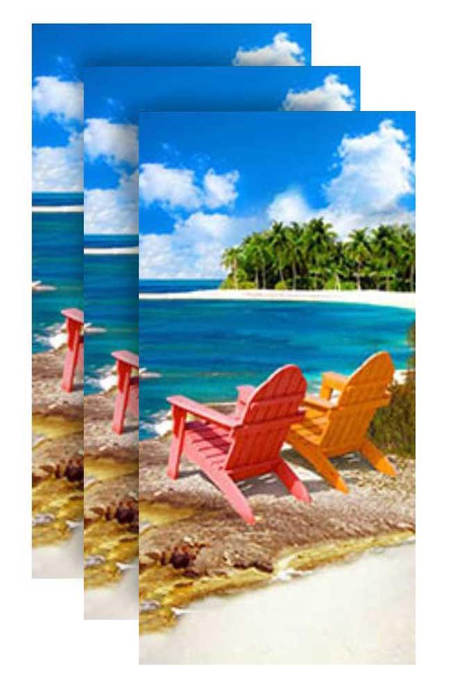 Hilasal Private Beach Fiber-Reaction Printed Beach Towel 30 x 60 in 11965