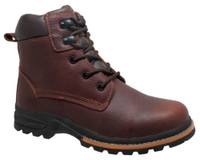 "AdTec Men's 6"" Classic Work Boot Soft Toe Oiled Leather Brown 9800"