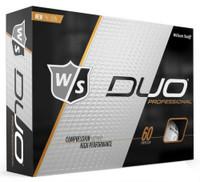 Wilson Staff Duo Pro Golf Balls Dozen 60 Compression Golfing White