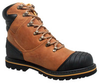 "AdTec Men's 7"" Steel Toe Work Boot Oiled Leather Light Brown 9804"