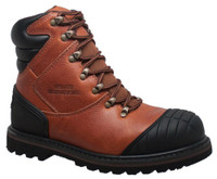 "AdTec Men's 7"" Steel Toe Work Boot Oiled Leather Reddish Brown 9805"