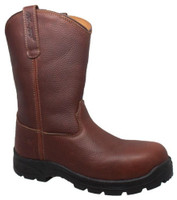 """Adtec Men's 12"""" Wellington Composite Safety Toe Work Boot Leather Brown 9806"""