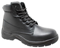 "AdTec Men's 6"" Composite Safety Toe Work Boot Leather Padded Collar Black 9801"
