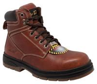 """AdTec Men's 6"""" Full-Grain Leather Steel Toe Work Boot Contractor Reddish 9426"""