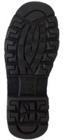 "RideTecs Men's 6"" Reflective Biker Lace Boot Reflective Trim Leather Black 9618"
