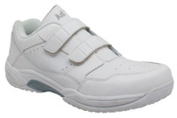 AdTec Mens Uniform Athletic Velcro Hospital Utility Diamond Traction White 9633