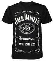 Jack Daniels Men's Big Label Logo Tennessee Whiskey Tee T-Shirt Liquor 424JD-89