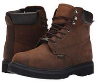 """AdTec Men's 6"""" Steel Toe Work Boot Rugged Contractor Slip Resistant Brown 1981"""