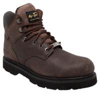 """AdTec Men's 6"""" Crazy Horse Leather Steel Toe Work Boot Contractor Brown 9328"""
