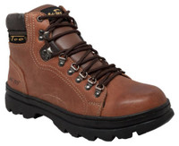 "AdTec Men's 6"" Crazy Horse Leather Hiker Boots Soft Toe Work Rugged Brown 1987"